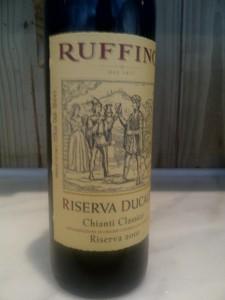 Um dos vinhos mais conhecidos no mundo: Ruffino Riserva Ducale
