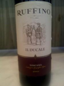 Ruffino Il Ducale, um dos vinhos que estão na mais alta gama desse produtor,,